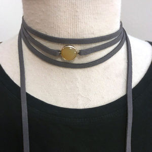 Evereve Wrap Leather Necklace